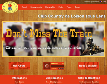 Capture d'écran du site de la site country