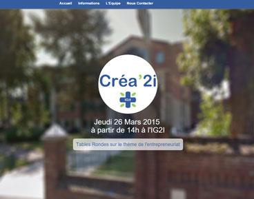 Capture d'écran site de Créa'2i
