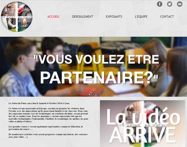 Capture d'écran site du Salon du Futur