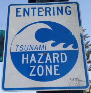Panneau de tsunami